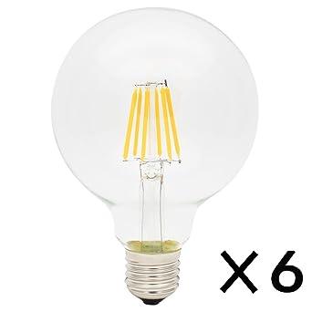 rohsce G95 6 W Vintage E27 rosca Edison Bombilla LED filamento de tungsteno luces envejecido bombillas