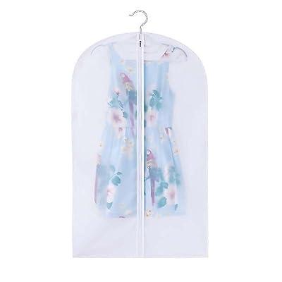 JuneJour Sac de Rangement Protection Transparentes Zippées pour Vêtements Couvercle Anti-poussière