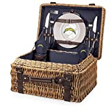 NFL Los Angeles Chargers Champion Picnic Basket with Deluxe Service for Two, Navy