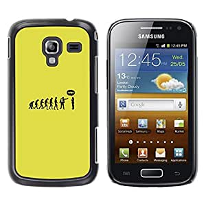 Be Good Phone Accessory // Dura Cáscara cubierta Protectora Caso Carcasa Funda de Protección para Samsung Galaxy Ace 2 I8160 Ace II X S7560M // Funny Evolution Monkey Man
