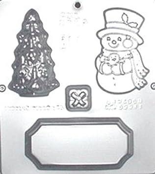 Muñeco de nieve escena Chocolate Candy Mold Navidad 2125: Amazon.es: Hogar