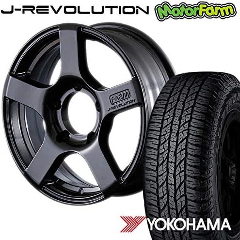 モーターファーム タイヤホイールセット FARM J-REVOLUTION ガンメタリック 16×5.5J/5H+20 ヨコハマ ジオランダー A/T G015 185/85R16 (yokohama geolandar オールテレイン)