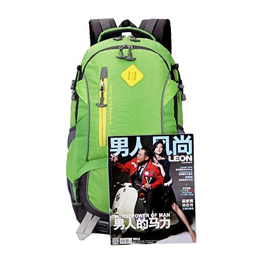 Mountaineering Bag Outdoor Männer und Frauen Schulter Rucksack nylon Wanderpackage wasserdichte Bergsteigen Taschen , blau