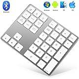 Bluetooth Numeric Keypad, HoRiMe 32-Key Wireless Numerical Keypad Aluminum Number Pad for Smartphone Laptop Computer Windows Surface Pro Apple iMac Mackbook iPad Android Tablet