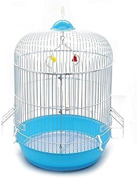 BPS Jaula Pájaros Metal con Comedero Bebedero Columpio Saltador Cubeta Diferente Modelos Color envia al Azar (Modelo1249: 33.5 * 33.5 * 53cm) BPS-1249