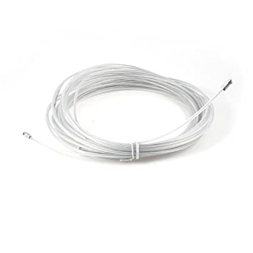 uxcell 30M White Plastic Coated Steel Fish Tape Electric Wire Cables ...