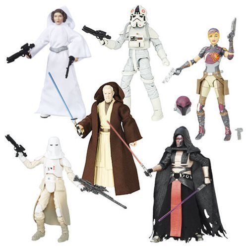 Star Wars The Black Series 6 Action Figures Wave 9 Case