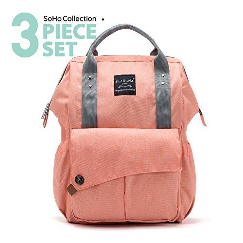 SoHo diaper bag backpack Nolita 3 piece set nappy tote bag f