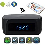 JLRKENG Wireless Spy Hidden Camera Desk Table Clock for Baby Caring Pet Monitor Home Security Cam Motion Detection Alarm Night Vision Live View and Loop Recording 12-hour System Mini Nanny Cam