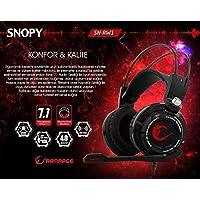 Snopy Rampage SN-RW1 7.1 USB Oyuncu Siyah Mikrofonlu Kulaklık, Siyah