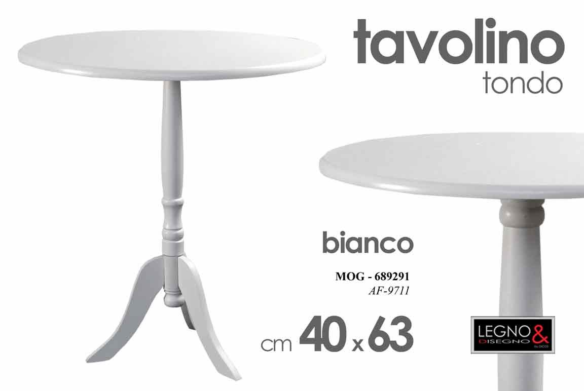 TAVOLINO BIANCO 40X40X63CM BIANCO AF9711