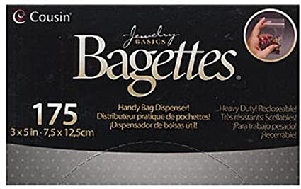 Cousin Bagettes Plastic Storage Packets (3 In. x 5 In.) 3 pcs