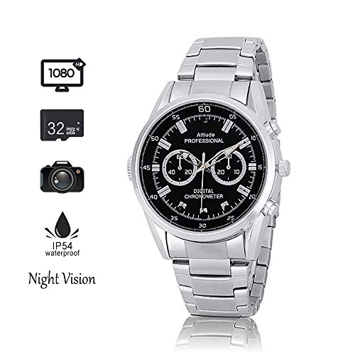 B, 1080P Hidoli H4 Wrist Hidden Camera Video Recorder Waterproof for Home Outdoor ()