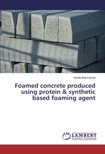 Foamed concrete produced using protein & synthetic based foaming agent
