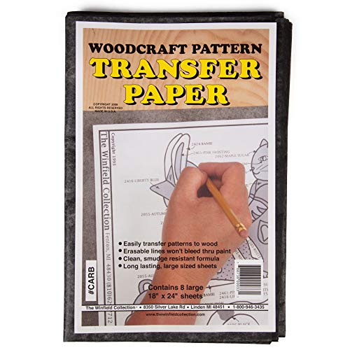 Wood Transfer Paper: Used for Tracing Designs onto Wood (8 Sheets - 18