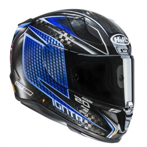 HJC casco Moto Rpha 11 Carbon Jackson Storm Cars 3, Negro/Azul, talla M: Amazon.es: Coche y moto
