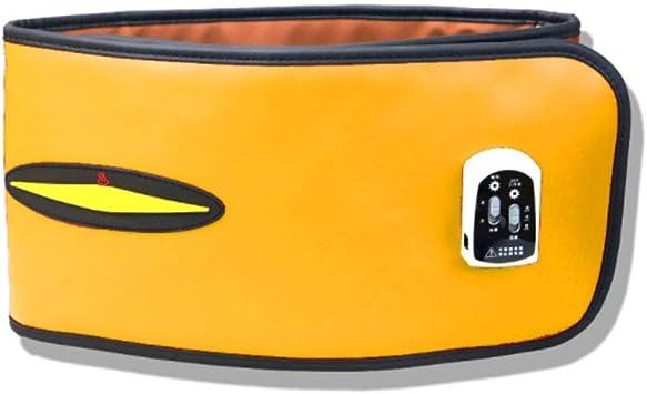 Masaje cinturón caliente compresas calientes masajes de choque imán Surround diseño bandas de calentamiento infrarrojo lejano adecuado para pacientes con dolor de espalda baja uso,Yellow,125x20cm: Amazon.es: Salud y cuidado personal