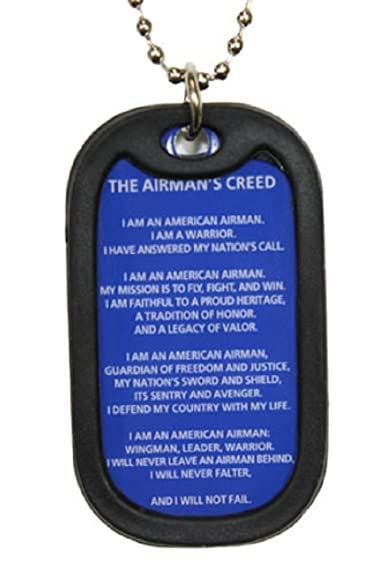 Dog tag key chain necklace us military airmans creed amazon dog tag key chain necklace us military airmans creed altavistaventures Choice Image