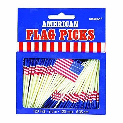 Patriotic Party Flag Picks, 144 -
