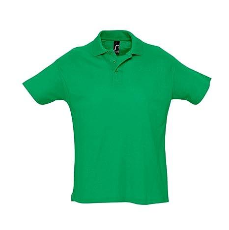 SOLS Men's Summer II Pique Short Sleeve Polo Shirt Kelly Green XS