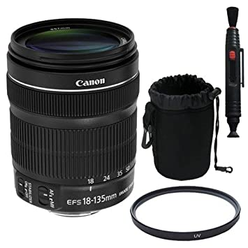 Canon EF 18-135mm f//3.5-5.6 is STM Lens 67mm UV Filter Lens Pen Cleaner Deluxe Lens Pouch Bulk Packaging Saver Bundle