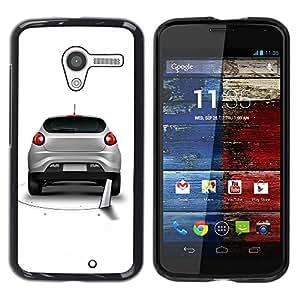 LECELL -- Funda protectora / Cubierta / Piel For Motorola Moto X 1 1st GEN I XT1058 XT1053 XT1052 XT1056 XT1060 XT1055 -- Cool Funny Saw Car Prank Hole --