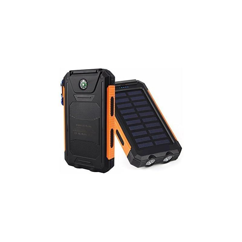 50000mah Solar Power Bank 2 LED 2 USB Ba