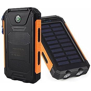 Amazon.com: 30,000 mah Solar Portable Phone Charger ...