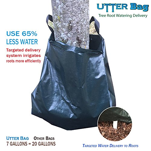 Utter Bag Slow Release Tree Watering Bag, Use 65% Less Water, Prevents overwatering, Reduces Evaporation Equivalent to 20 Gallon Bag, uses 7 gallons of Water, Refill Weekly, targeted drip System (1)