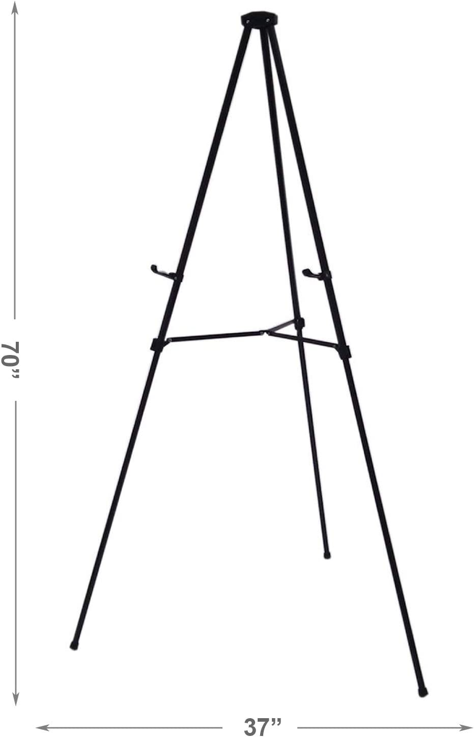 Lightweight Aluminum Telescoping Display Easel 70 Inches Silver