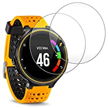 Screen Protector for Garmin Forerunner 235 225 Smart Watch, AFUNTA 2 Pack Tempered Glass Film Anti-Scratch High Definition Shield
