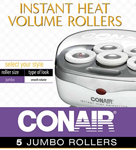 Conair Instant Heat Travel Hot Rollers; White
