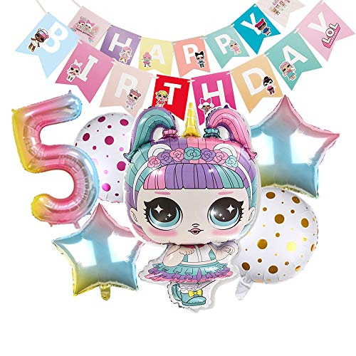 LOL Party's Balloons for Chrildren Surprise Birthday Balloon Bouquet Decorations Surprise Doll Banner Chirldren's Party -