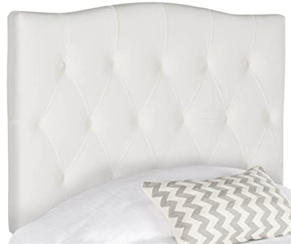 2c282540cfea9 Image Unavailable. Image not available for. Color  Safavieh Mercer  Collection Axel White Tufted Headboard (Twin)