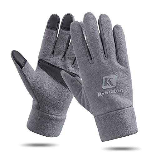 AINIYF Outdoor Sports Smart Gloves   Men's Winter Sports Mountaineering Skiing Women's Windproof Thicken Cycling Warm Motorcycle Full Finger Gloves Touch Screen (Color : Gray, Size : XL) by AINIYF (Image #6)