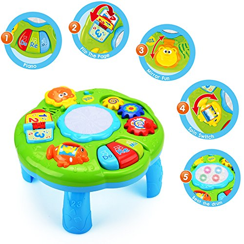 Electronic Learning Toys For Toddlers : Hanmun musical learning table baby toy electronic