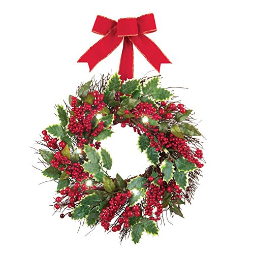 Lighted Berry Holiday Wreath Multi