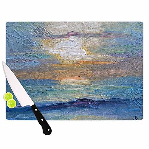 "Kess InHouse CS1050ACB01 Carol Schiff ""Ocean Sunset"" Blue..."
