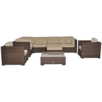 Atlantic Southampton Sectional 9 Piece Furmiture Set, Deluxe