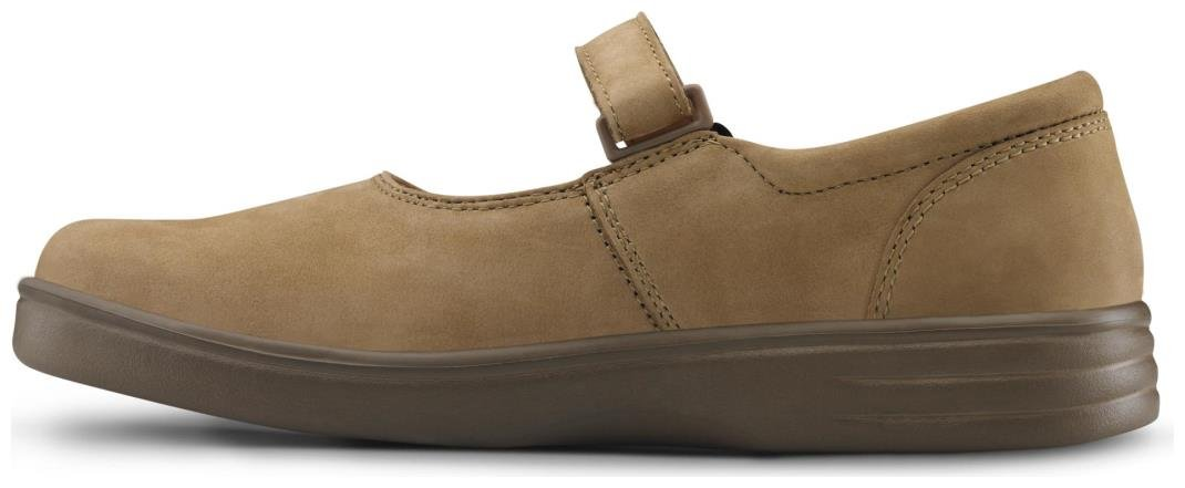 Dr. Comfort Merry Jane Women's Therapeutic Extra Depth Shoe: Beige 7 X-Wide (E-2E) Velcro by Dr. Comfort (Image #4)