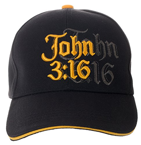John 3:16 Hat Religious Bible Christian Gift – 100% Cotton Embroidered Cap