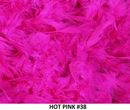 Cozy Glamour Over 35 Different Solid Color Boas 6 Feet Long 50 Gram Weight (Hot Pink ()