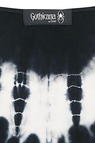 Gothicana by EMP Cold Shoulder Cardigan Cardigan chica Negro/Blanco Negro/Blanco