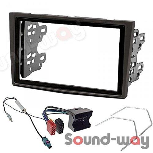 2/Din Car Radio Installation Kit with Brackets for Opel Astra H Zafira B Corsa D Black