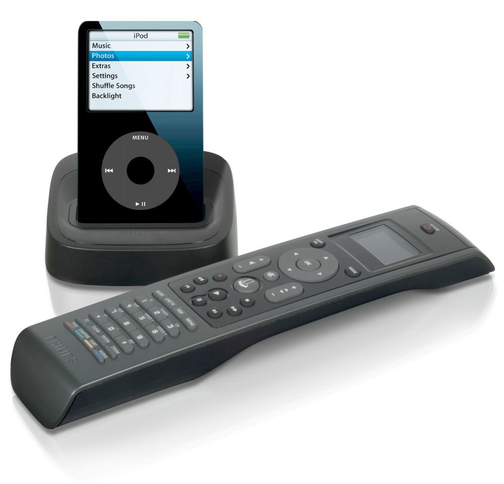 Philips SJM3152/17 RF Universal Remote Control for iPod with iPod Cradle/Dock/Charger/AV Connection Kit