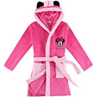 "Xfounder Ultra Soft Children Hooded Bathrobe Thick Flannel Robe Cartoon Animal Plush Robe Rosy Minnie S/125 /Height:47-51"" /5T-6T"