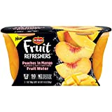 Del Monte 2 Piece Refreshers Snack Cups, Peaches in Mango Fruit Water, 6 Count