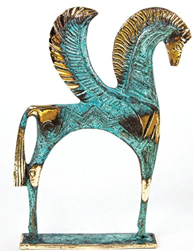 Ancient Greek Bronze Museum Statue Replica of Pegasus (175) - Greek Art Statues