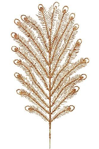 Renaissance 2000 Glitter Peacock Fern Pick Gold
