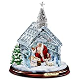 Thomas Kinkade Santa Nativity Crystal Chapel Christmas Sculpture by Hawthorne Village